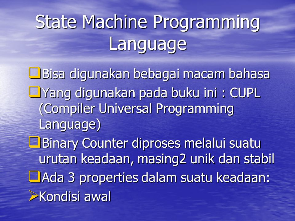 State Machine Programming Language