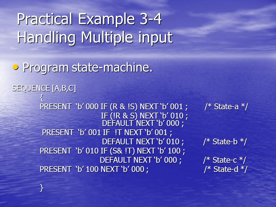 Practical Example 3-4 Handling Multiple input
