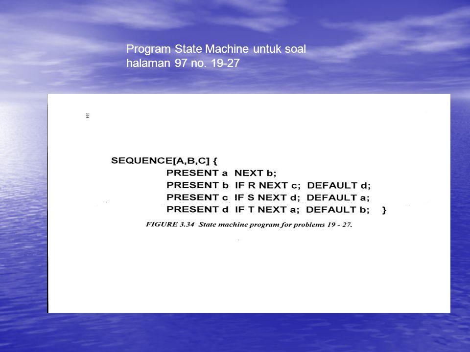 Program State Machine untuk soal halaman 97 no. 19-27