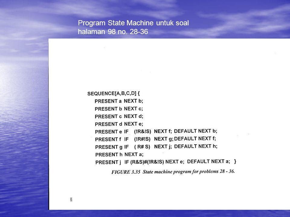 Program State Machine untuk soal halaman 98 no. 28-36