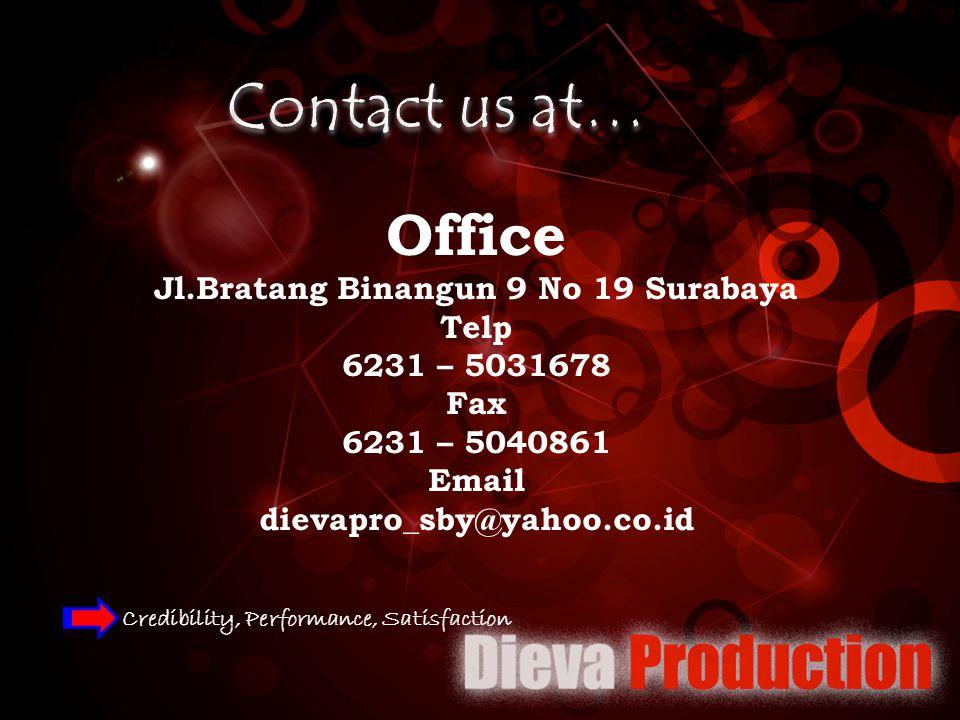 Jl.Bratang Binangun 9 No 19 Surabaya
