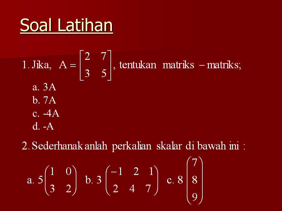 Soal Latihan 3A 7A -4A -A