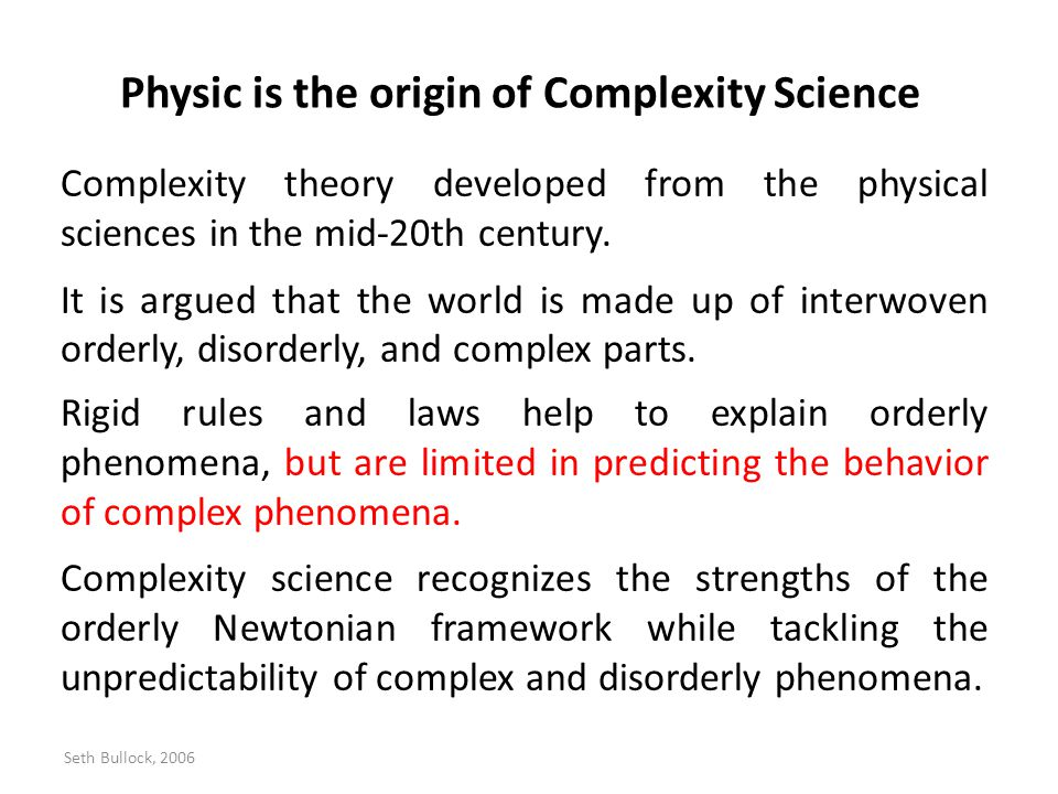 Physic is the origin of Complexity Science
