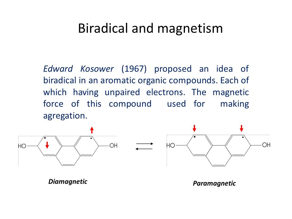 Biradical and magnetism