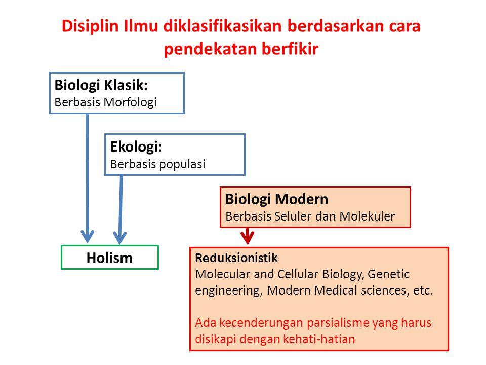 Disiplin Ilmu diklasifikasikan berdasarkan cara pendekatan berfikir