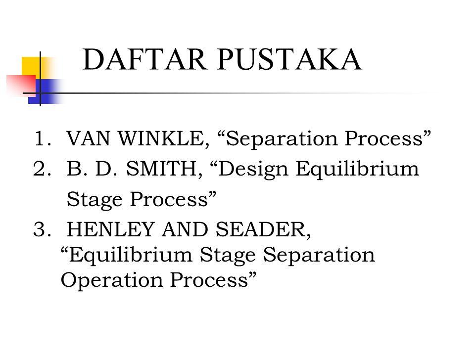 DAFTAR PUSTAKA 1. VAN WINKLE, Separation Process