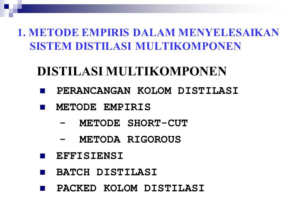 1. METODE EMPIRIS DALAM MENYELESAIKAN SISTEM DISTILASI MULTIKOMPONEN
