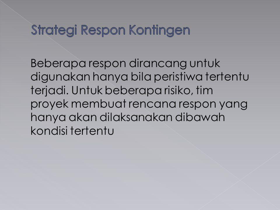 Strategi Respon Kontingen