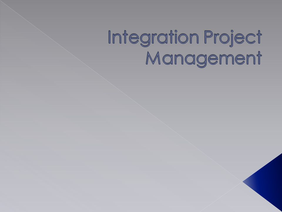 Integration Project Management