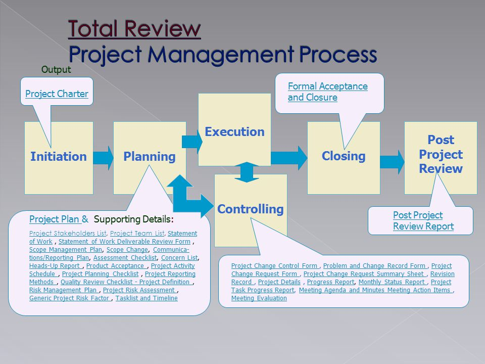 Total Review Project Management Process