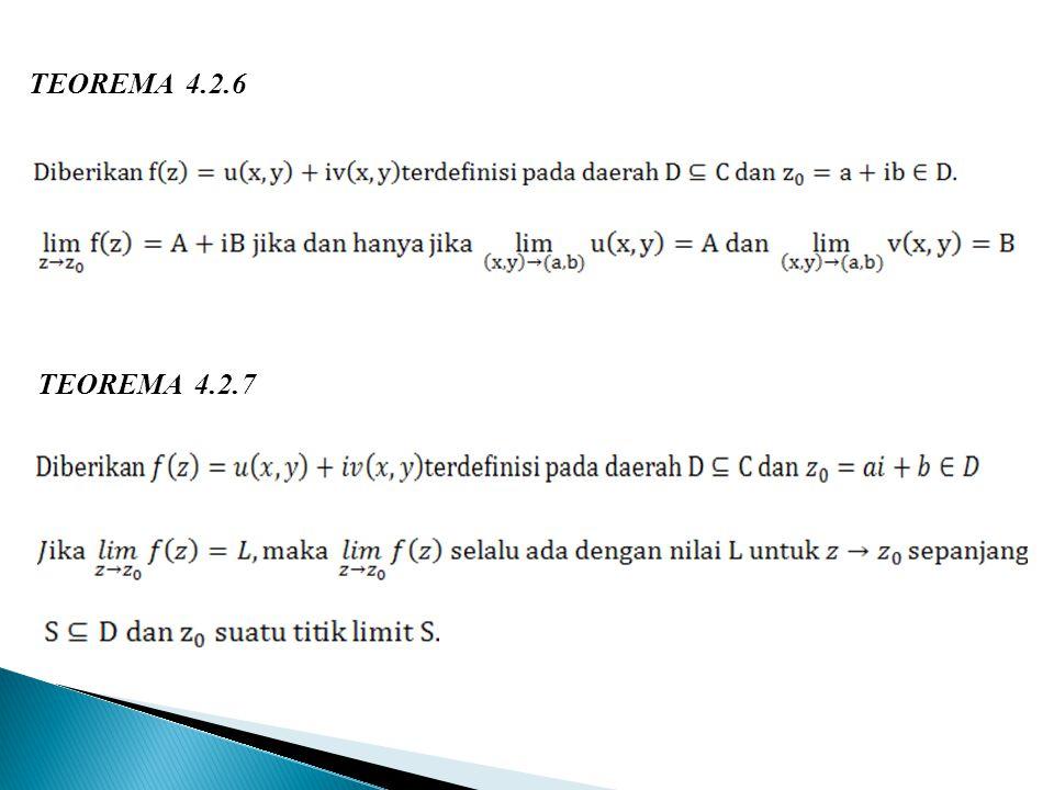 TEOREMA 4.2.6 TEOREMA 4.2.7