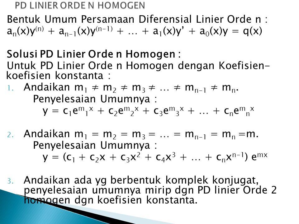 PD LINIER ORDE N HOMOGEN