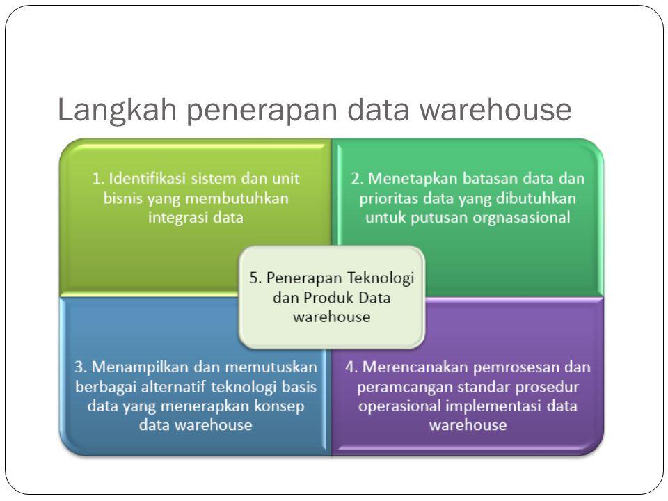 Langkah penerapan data warehouse