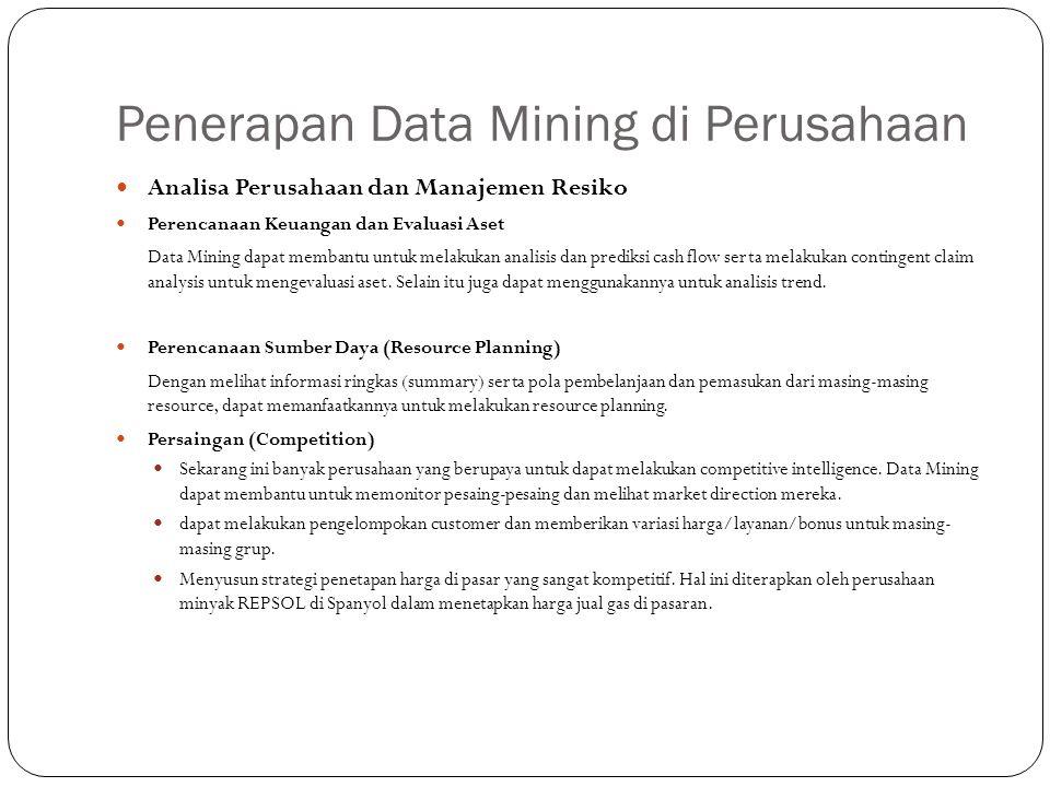 Penerapan Data Mining di Perusahaan
