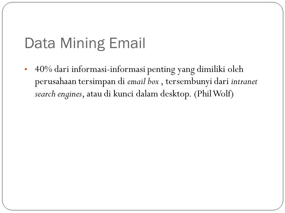 Data Mining Email