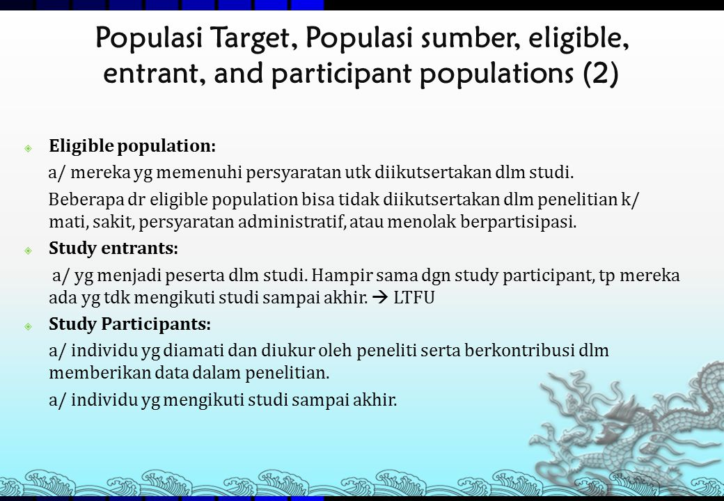 Populasi Target, Populasi sumber, eligible, entrant, and participant populations (2)