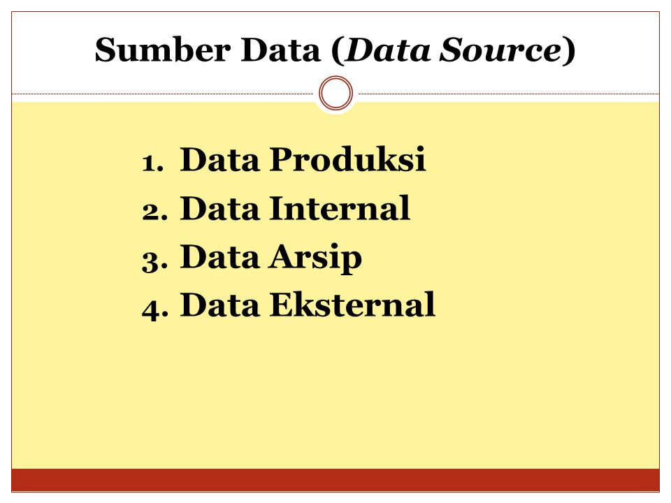 Sumber Data (Data Source)