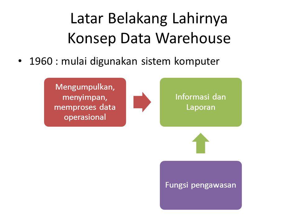 Latar Belakang Lahirnya Konsep Data Warehouse