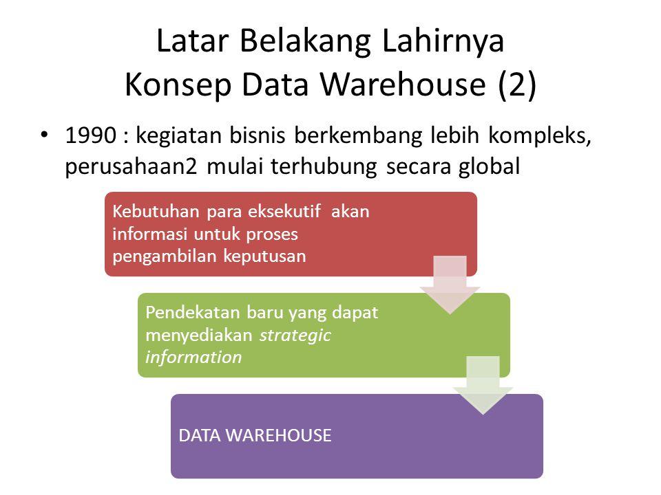 Latar Belakang Lahirnya Konsep Data Warehouse (2)