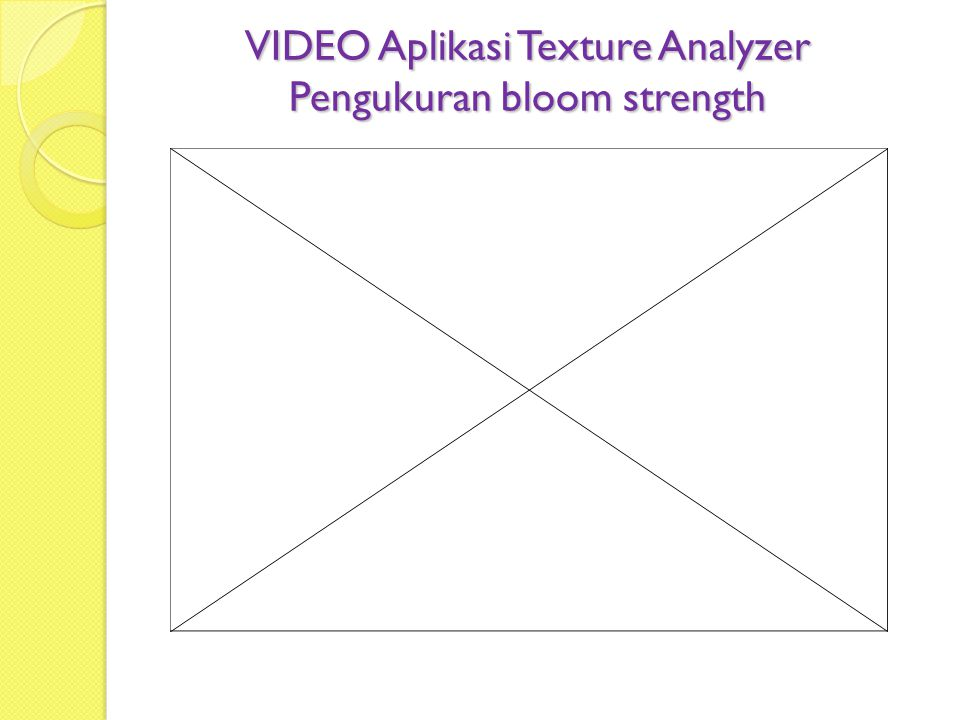 VIDEO Aplikasi Texture Analyzer Pengukuran bloom strength