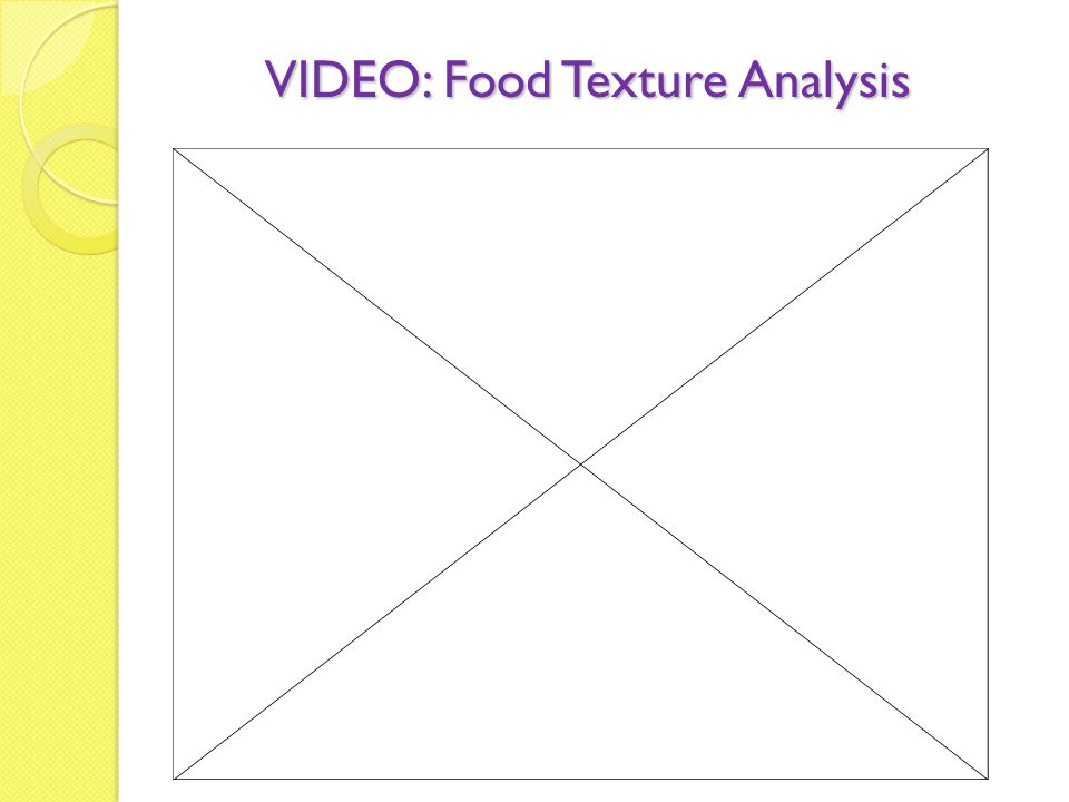 VIDEO: Food Texture Analysis