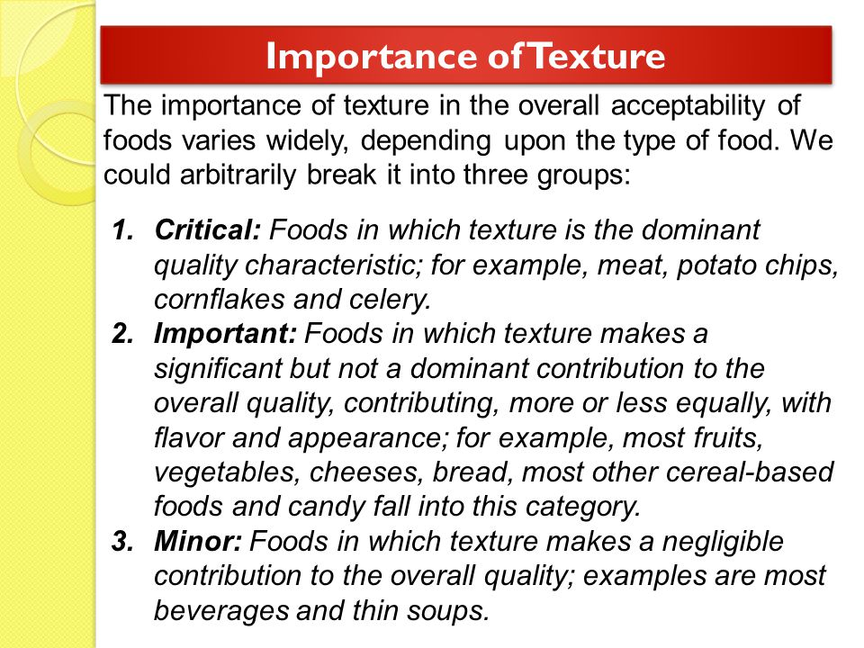 Importance of Texture