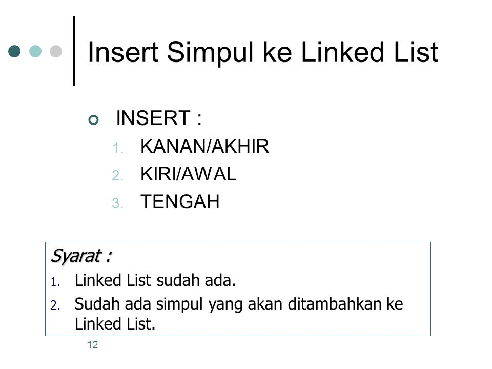 Insert Simpul ke Linked List