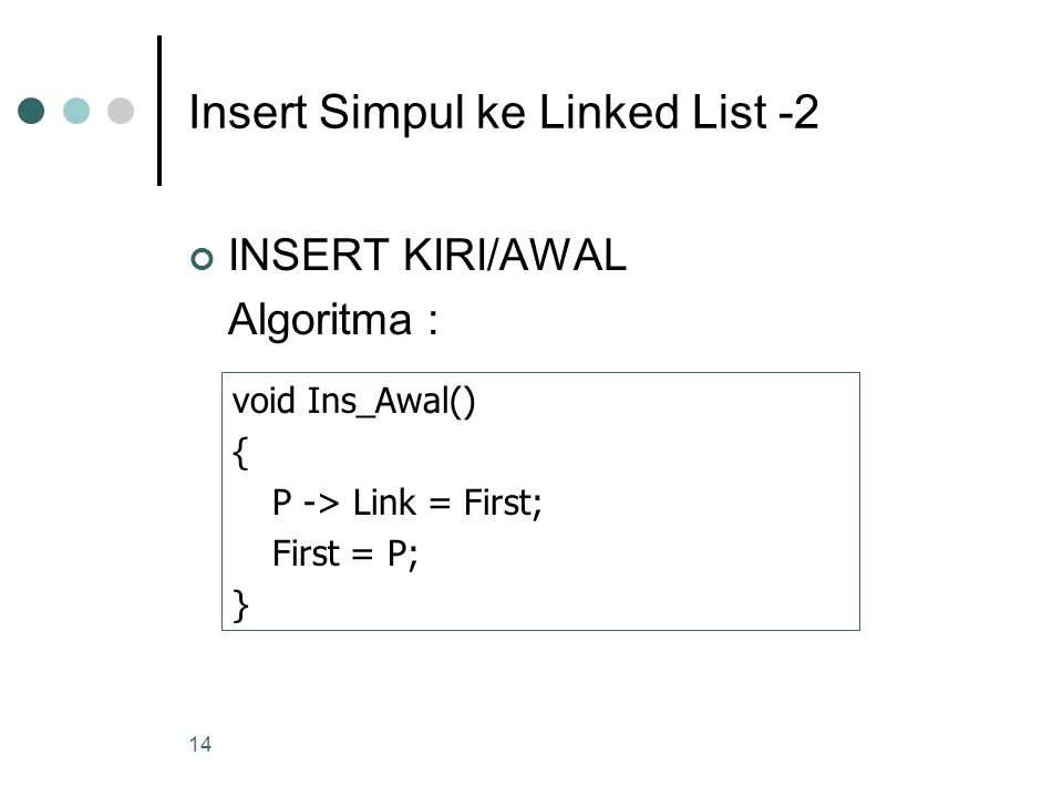 Insert Simpul ke Linked List -2