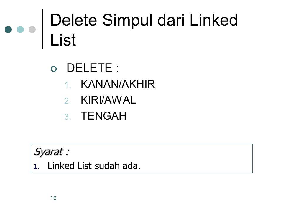 Delete Simpul dari Linked List