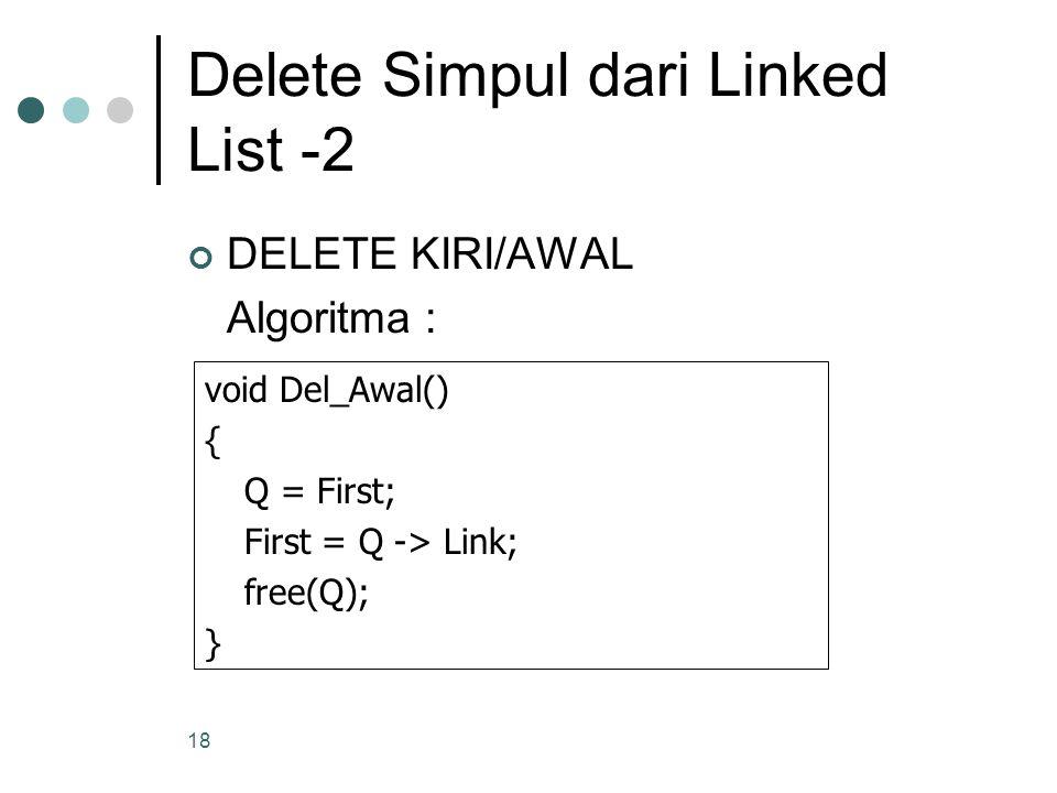 Delete Simpul dari Linked List -2
