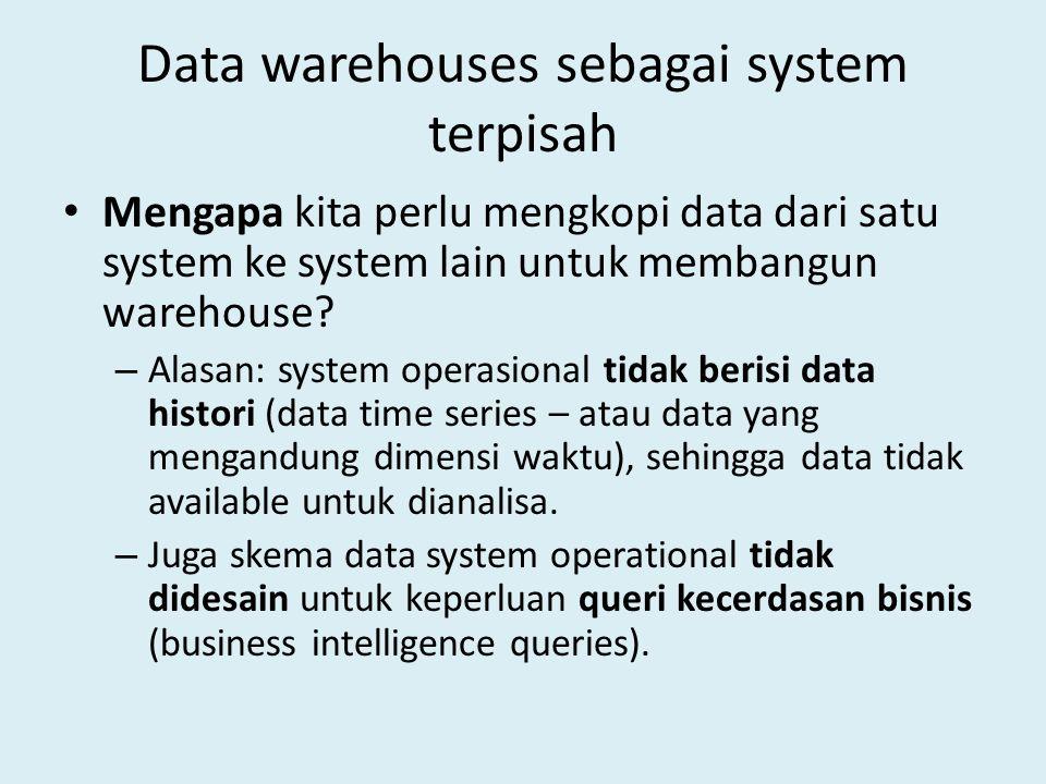 Data warehouses sebagai system terpisah