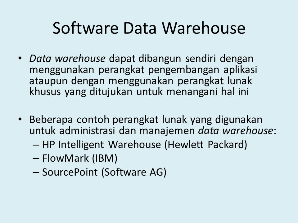 Software Data Warehouse
