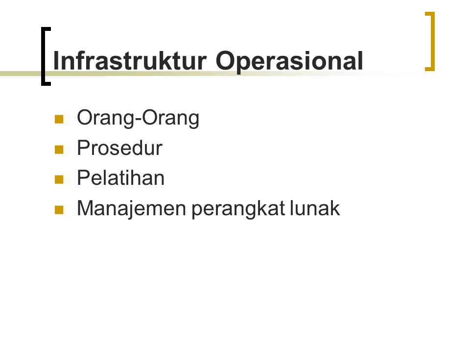 Infrastruktur Operasional