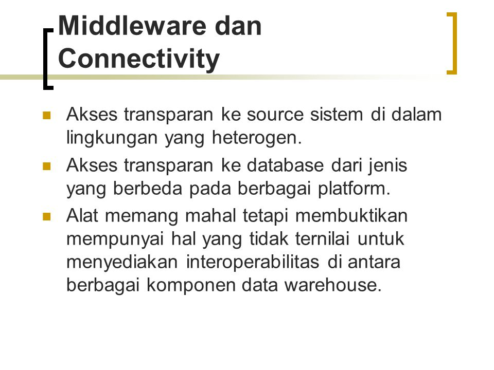 Middleware dan Connectivity