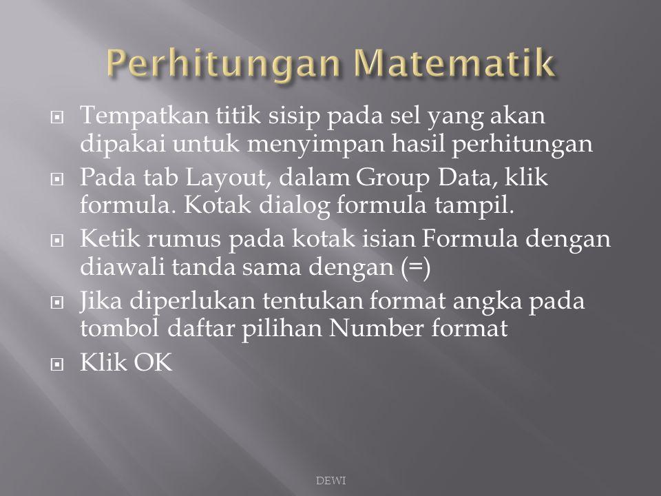 Perhitungan Matematik
