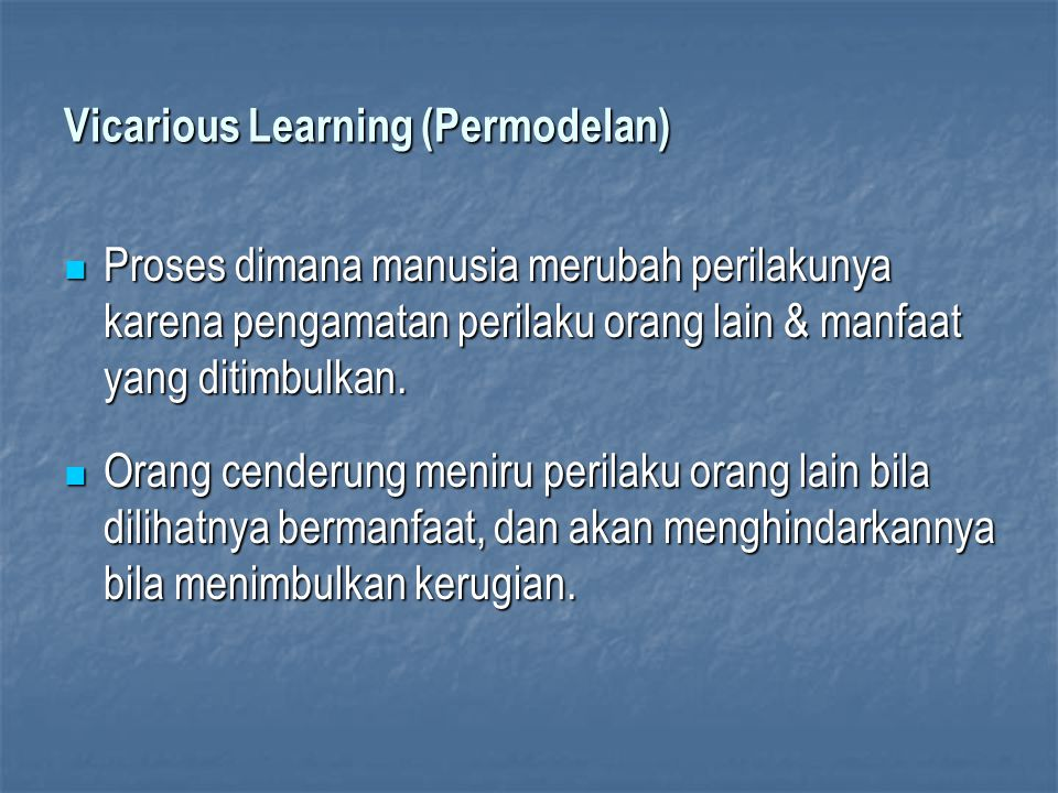 Vicarious Learning (Permodelan)