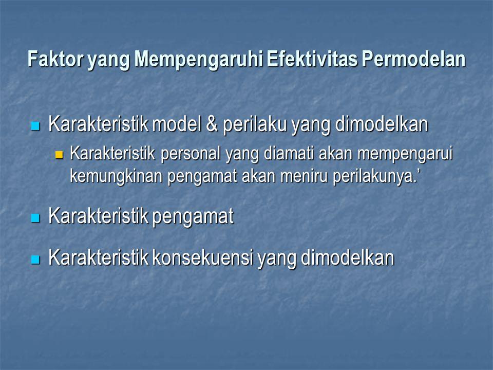 Faktor yang Mempengaruhi Efektivitas Permodelan