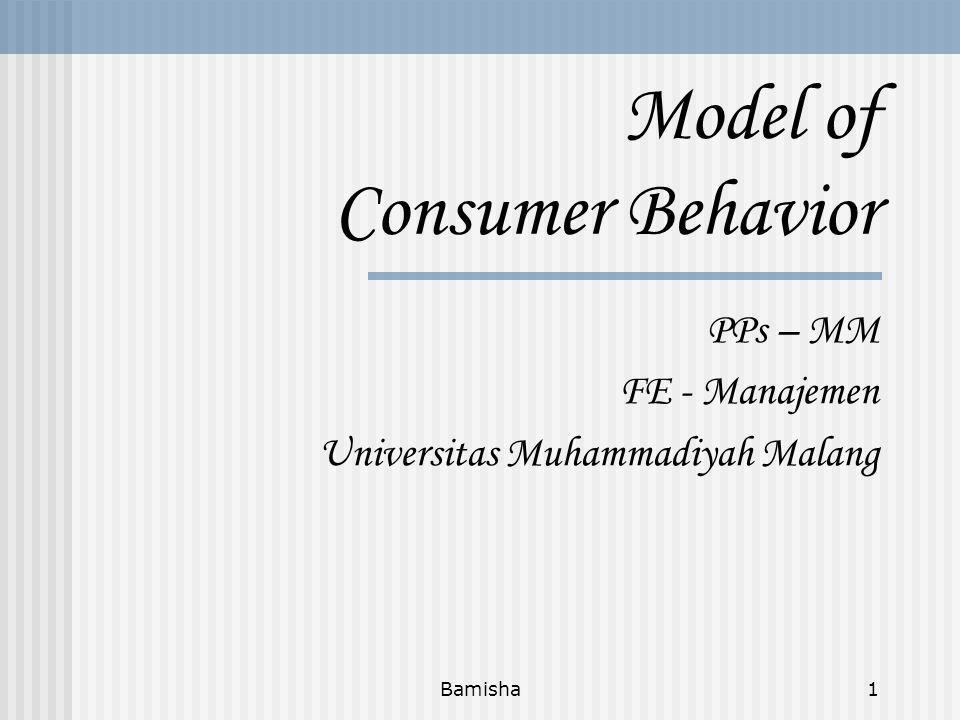 Model of Consumer Behavior