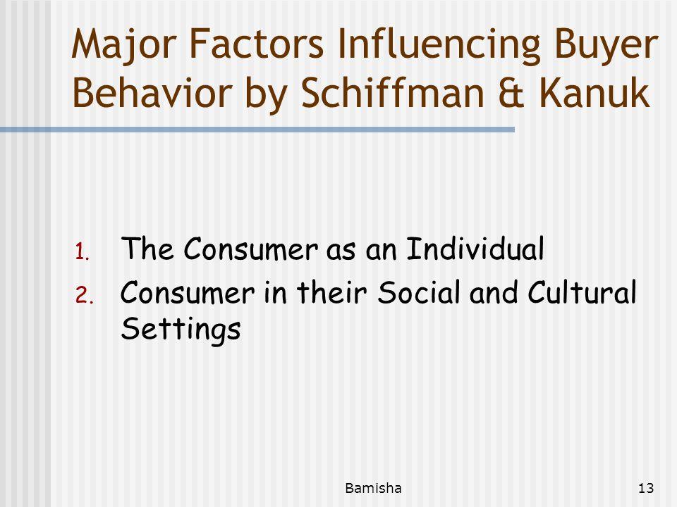 Major Factors Influencing Buyer Behavior by Schiffman & Kanuk