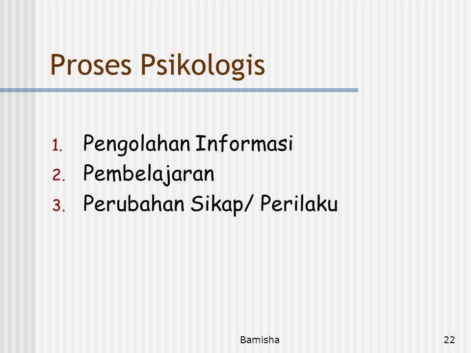 Proses Psikologis Pengolahan Informasi Pembelajaran