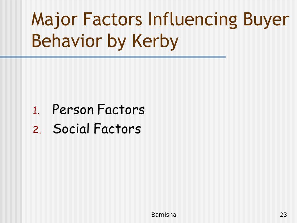 Major Factors Influencing Buyer Behavior by Kerby