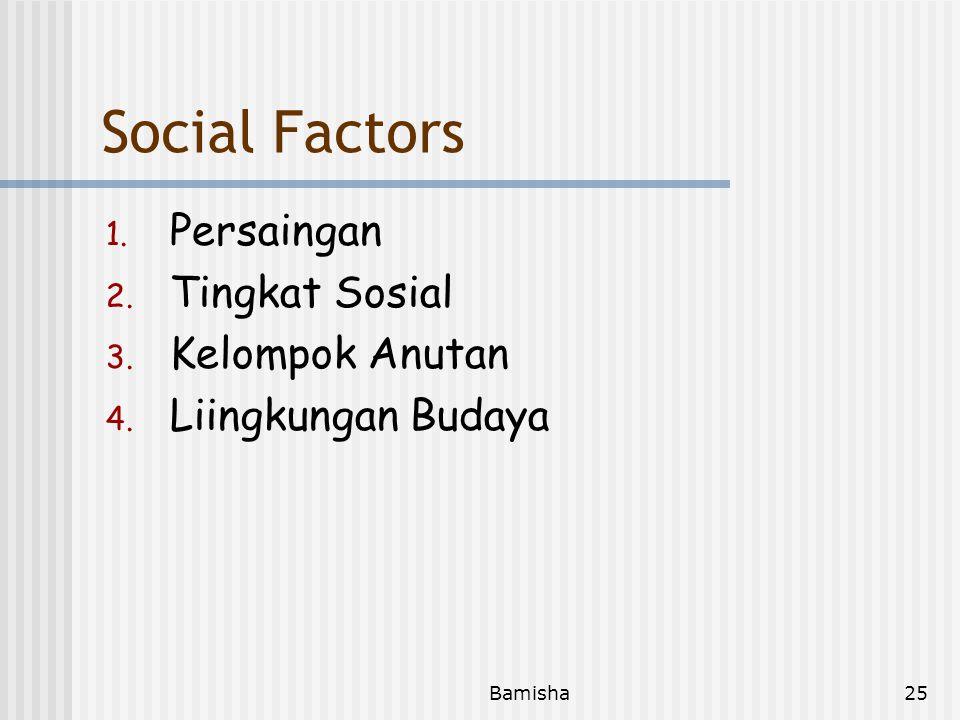 Social Factors Persaingan Tingkat Sosial Kelompok Anutan