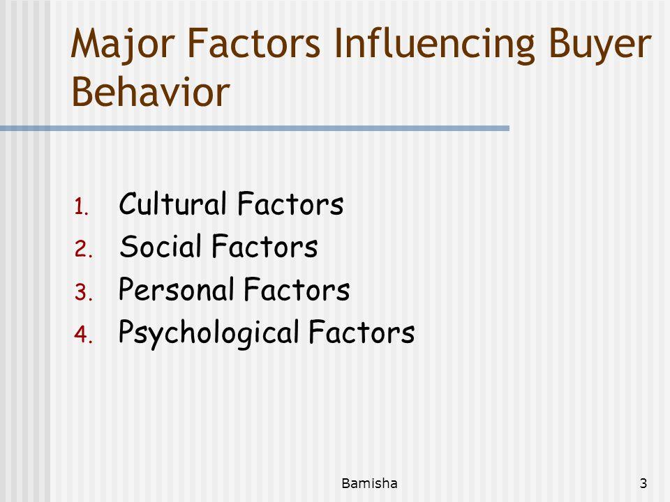 Major Factors Influencing Buyer Behavior