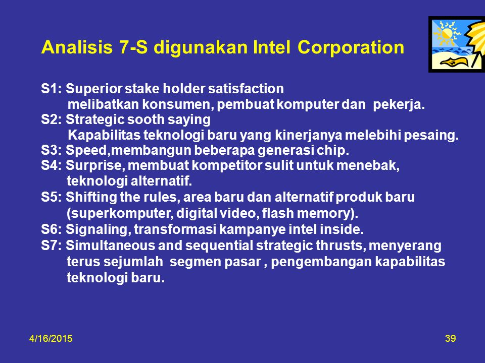 Analisis 7-S digunakan Intel Corporation
