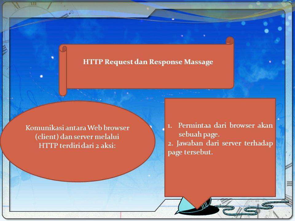HTTP Request dan Response Massage
