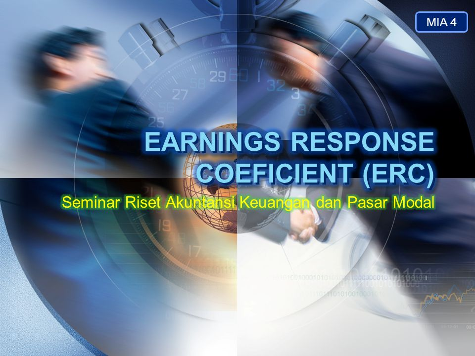 EARNINGS RESPONSE COEFICIENT (ERC)