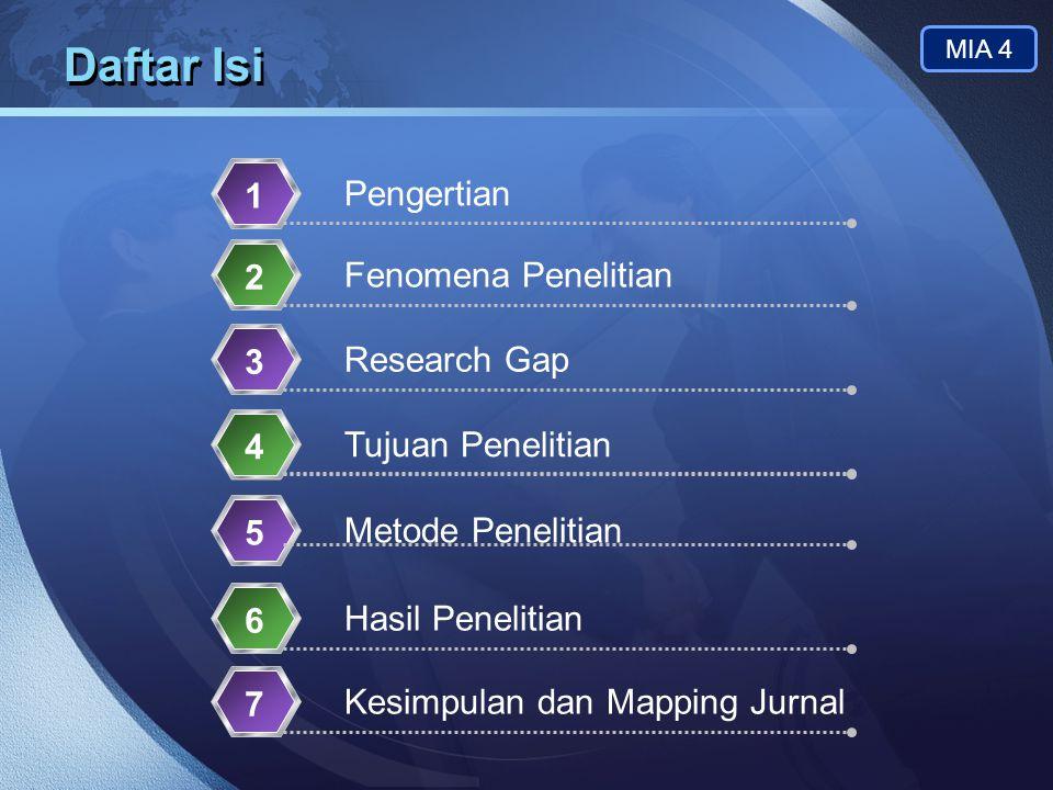 Daftar Isi 1 Pengertian 2 Fenomena Penelitian 3 Research Gap 4