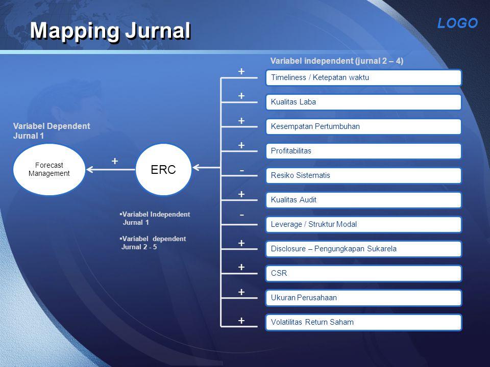 Mapping Jurnal + + + + ERC + - + - + + + +