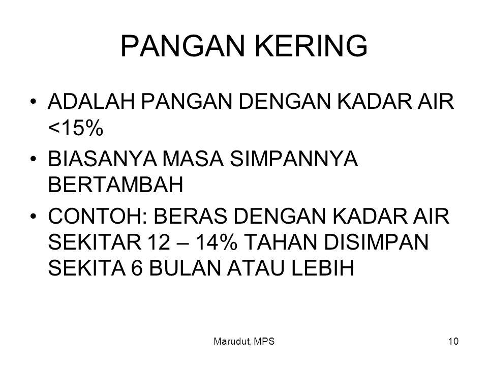 PANGAN KERING ADALAH PANGAN DENGAN KADAR AIR <15%