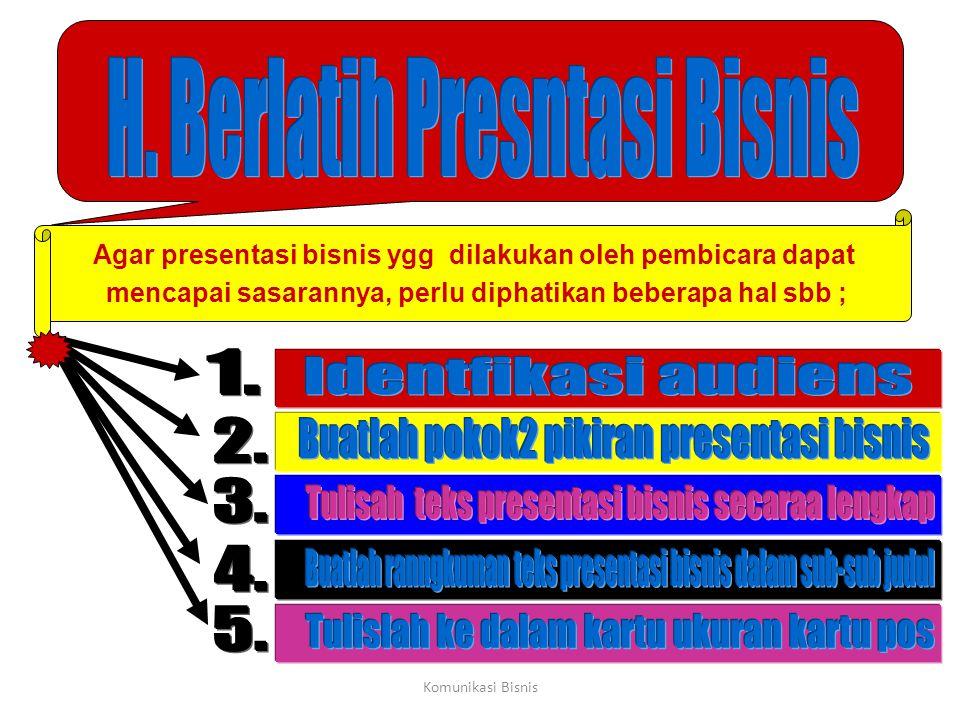 H. Berlatih Presntasi Bisnis